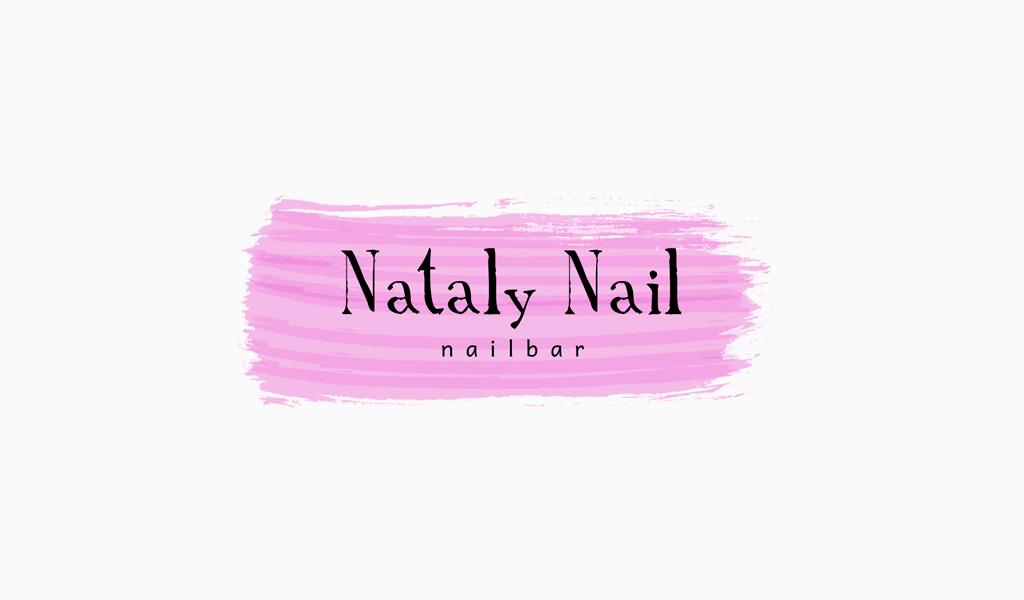 Logo de peinture de ligne rose