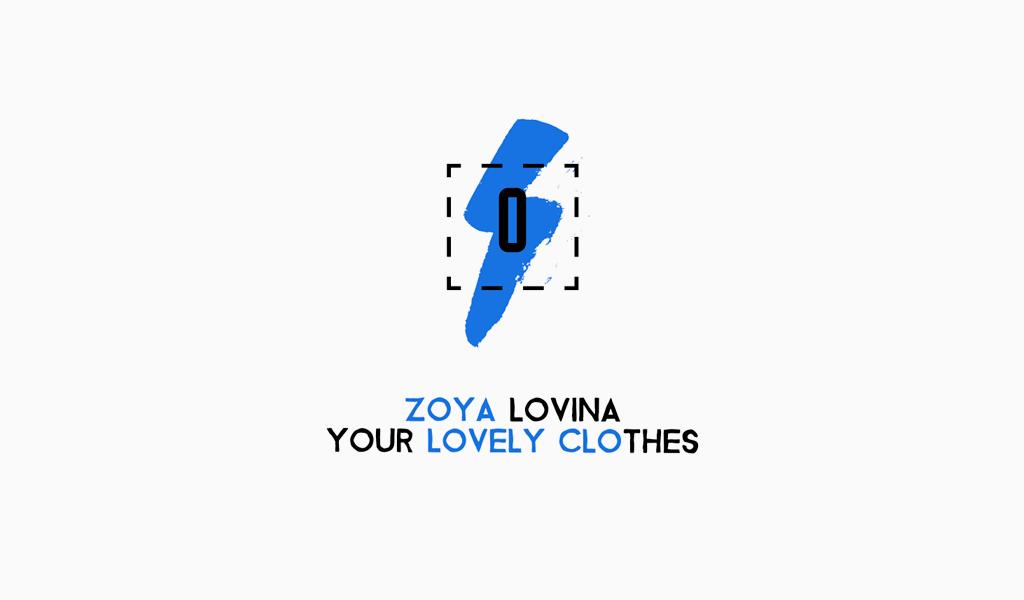 Logo de boulon d'éclairage bleu