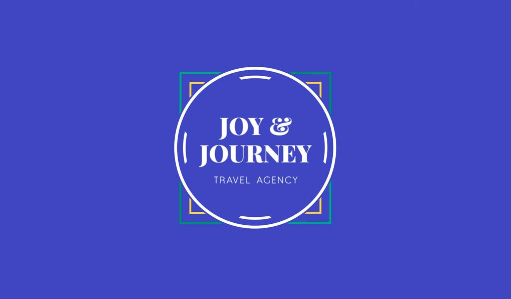 Logo de voyage cercle bleu