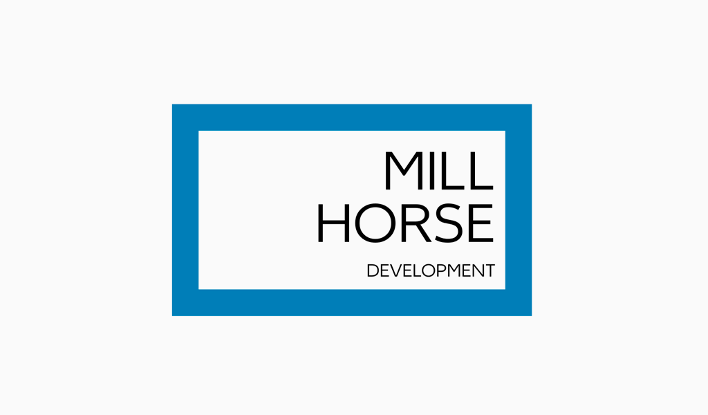 Logo abstrait rectangle bleu