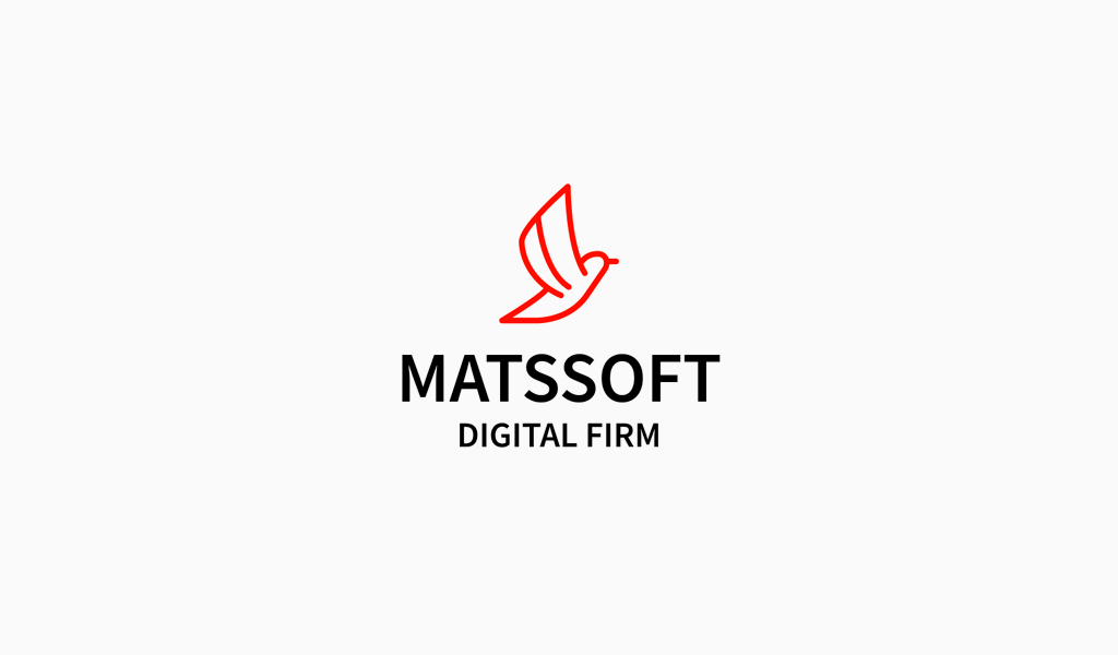 Logo numérique de l'oiseau rouge