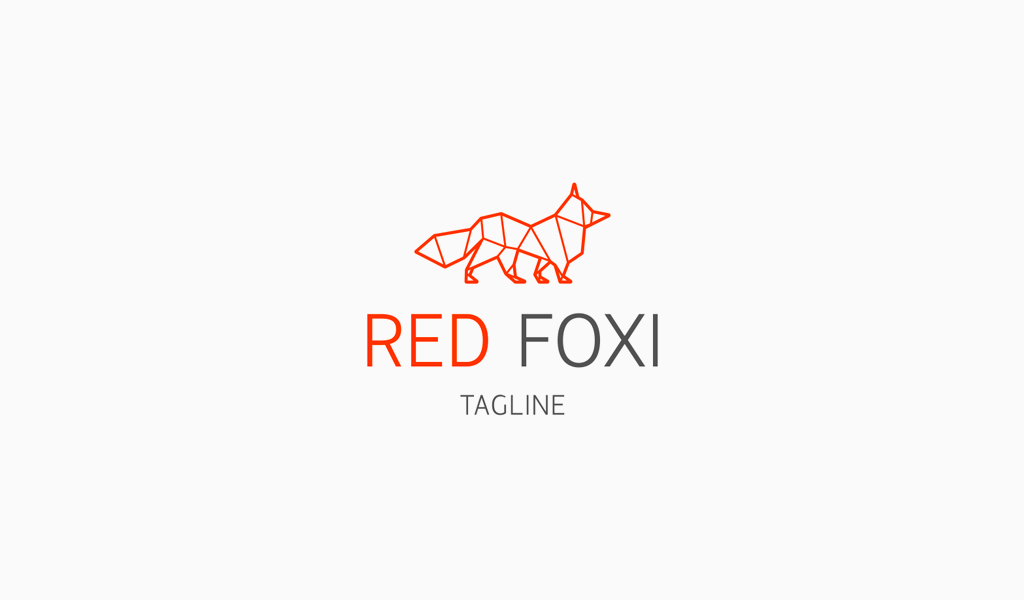 Logo géométrique du renard roux
