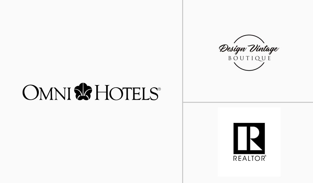 logos blancs luxueux