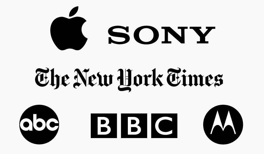 célèbres logos noirs png