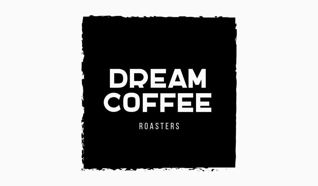 Logo de café carré noir