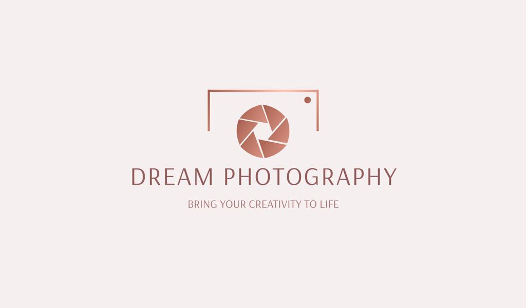 Logo de dégradé de caméra