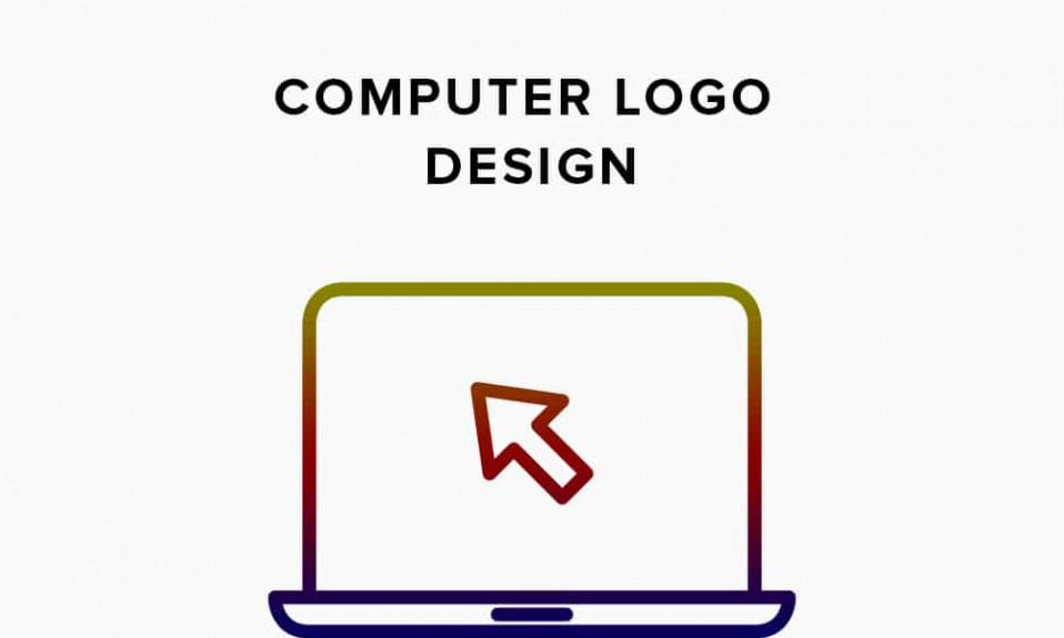 Copertura del design del logo del computer