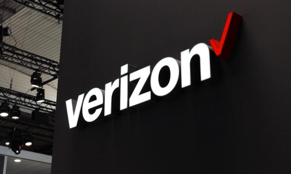 Verizon logo stand