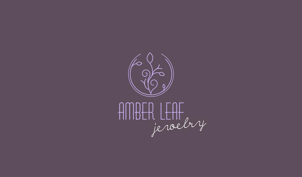 Logo viola motivo floreale Flower
