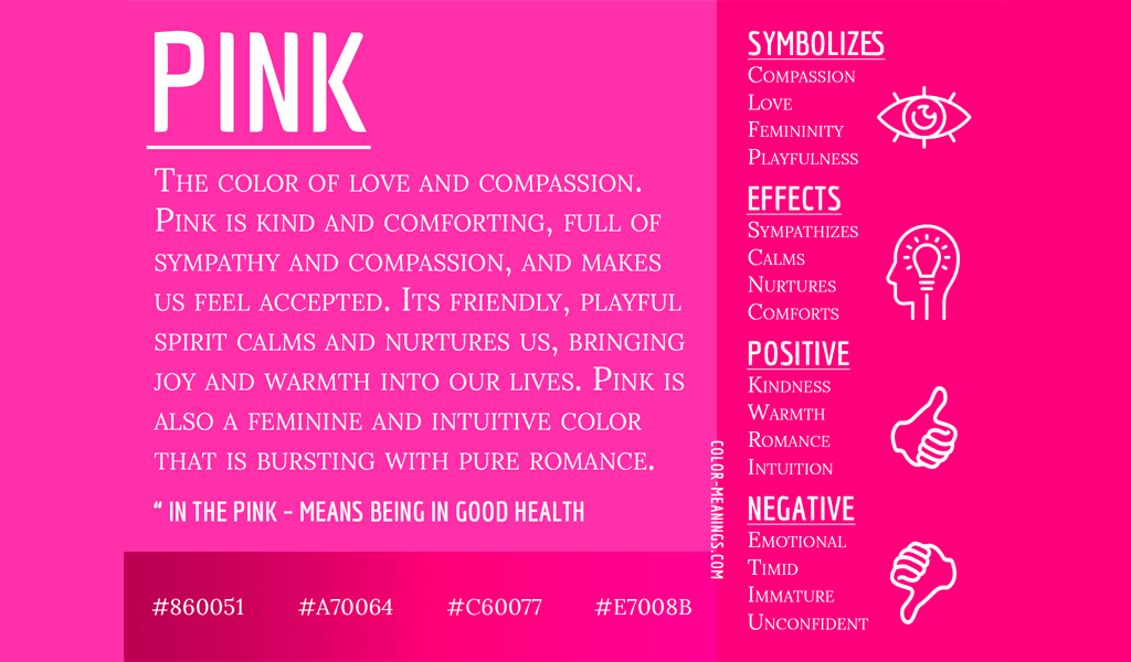psicologia colore rosa