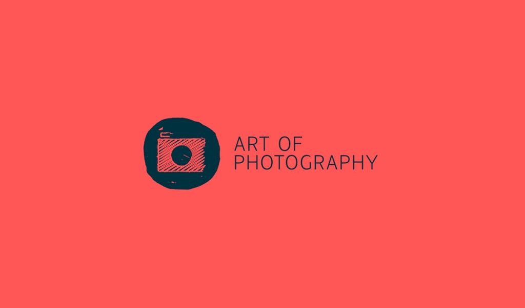 Logo di disegno della fotocamera rossa