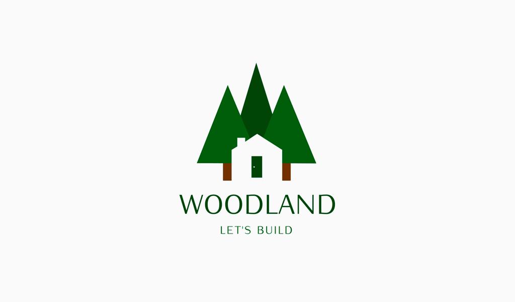 Logo della foresta della casa