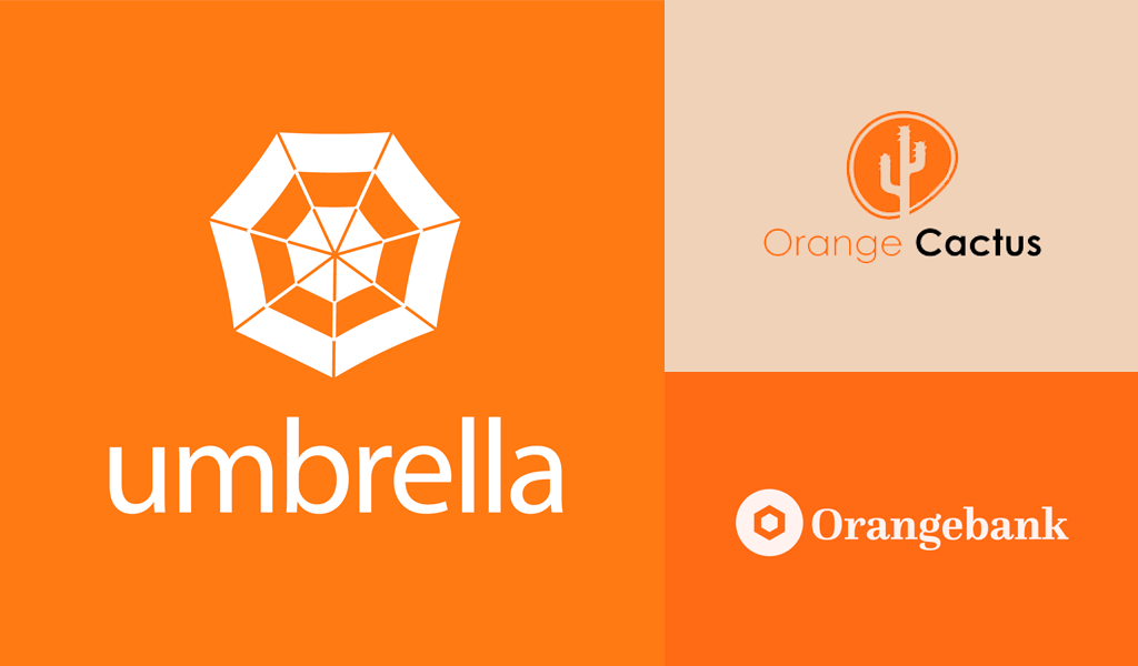 loghi arancioni moderni