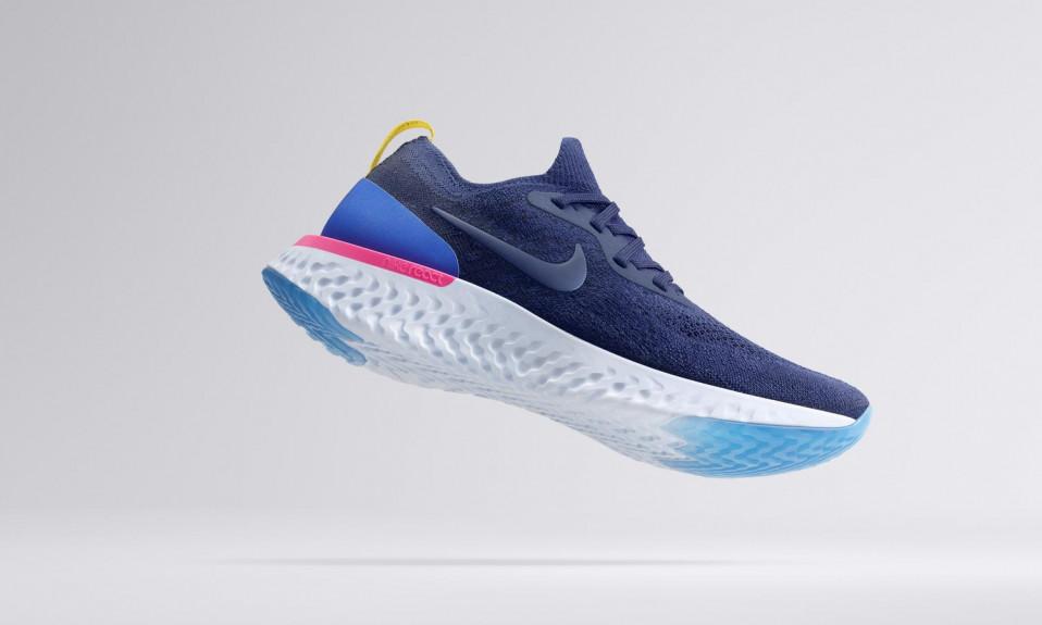 Nike logo on sneakers