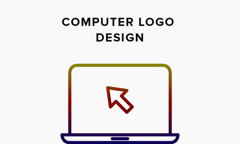 Capa de design de logotipo de computador