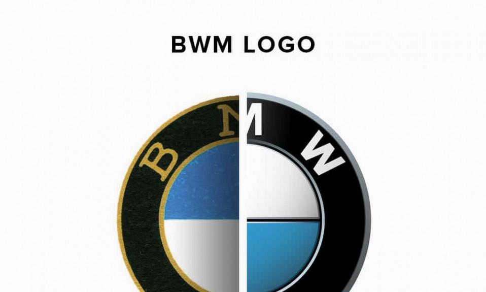 BMW logo history illustration
