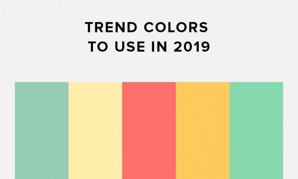 Cores da tendência 2019