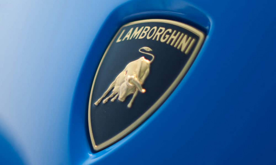 Lamborghini logo cover