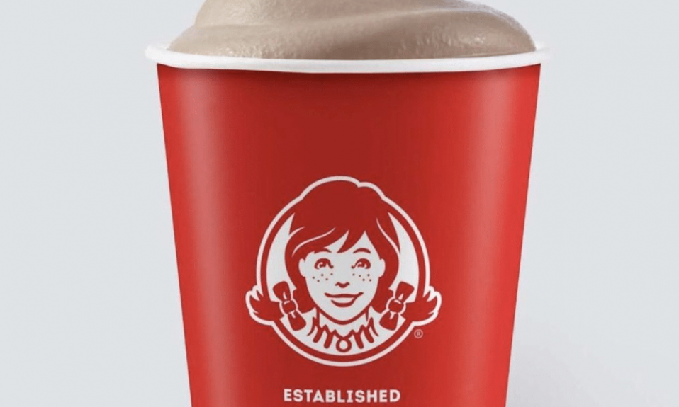 Wendy's logo cup