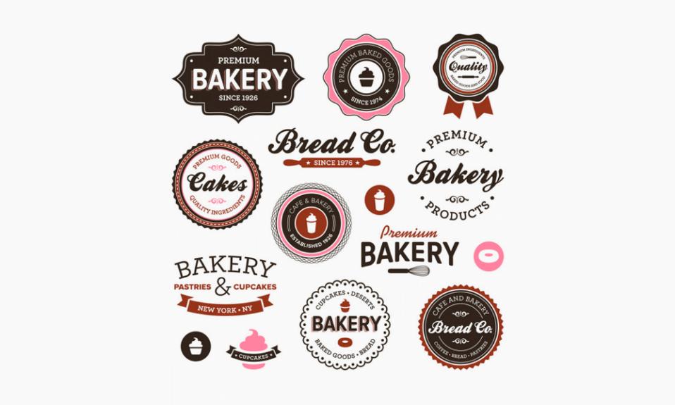 logotipos de pastelaria