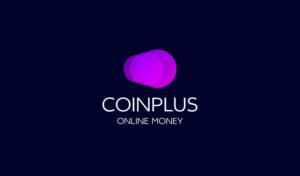 Logotipo do Bitcoin com círculos roxos