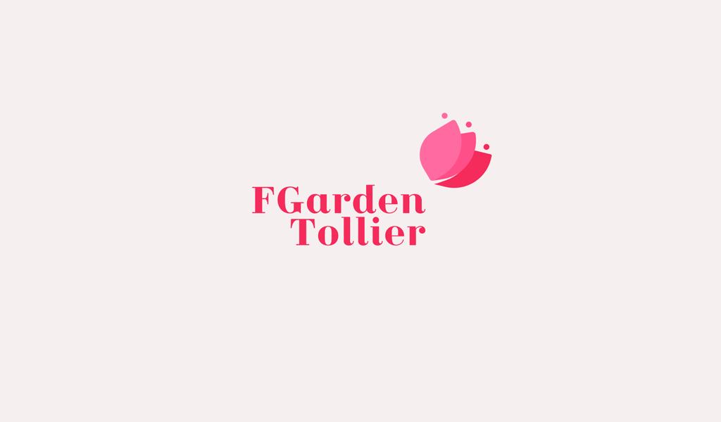 Logotipo em botão de flor rosa