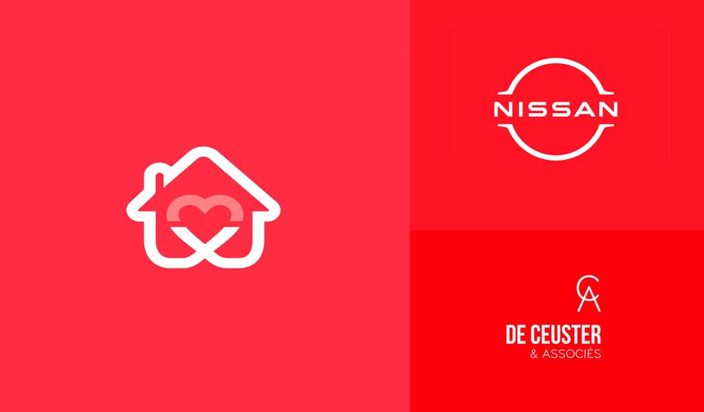 Exemplos de logotipos vermelhos