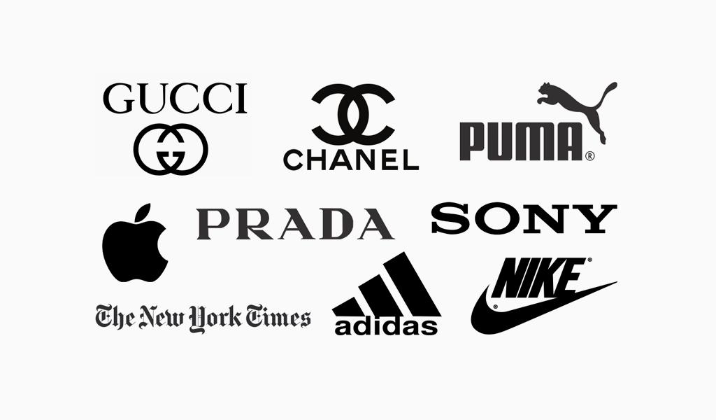 logotipos em preto e branco