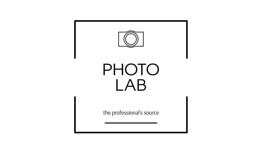Logotipo da câmera branca preta
