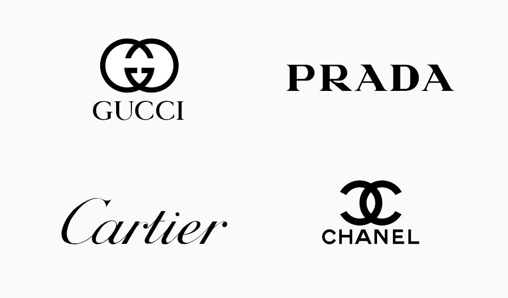 imagem de logotipos pretos famosos