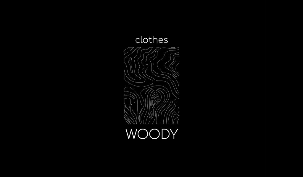 Logotipo de textura de madeira minimalista