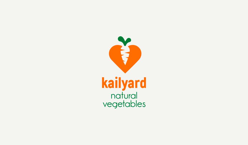 Logotipo da cenoura e coração