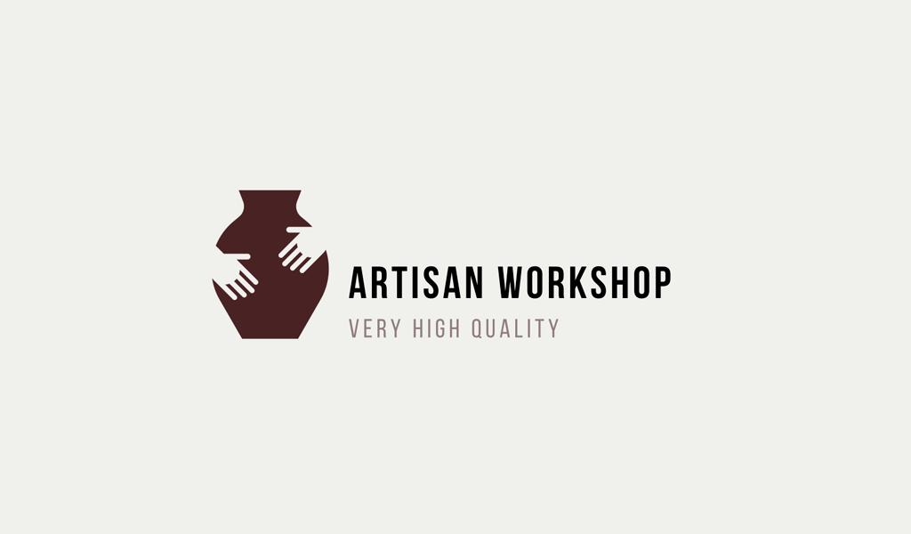 Logotipo do vaso de mãos
