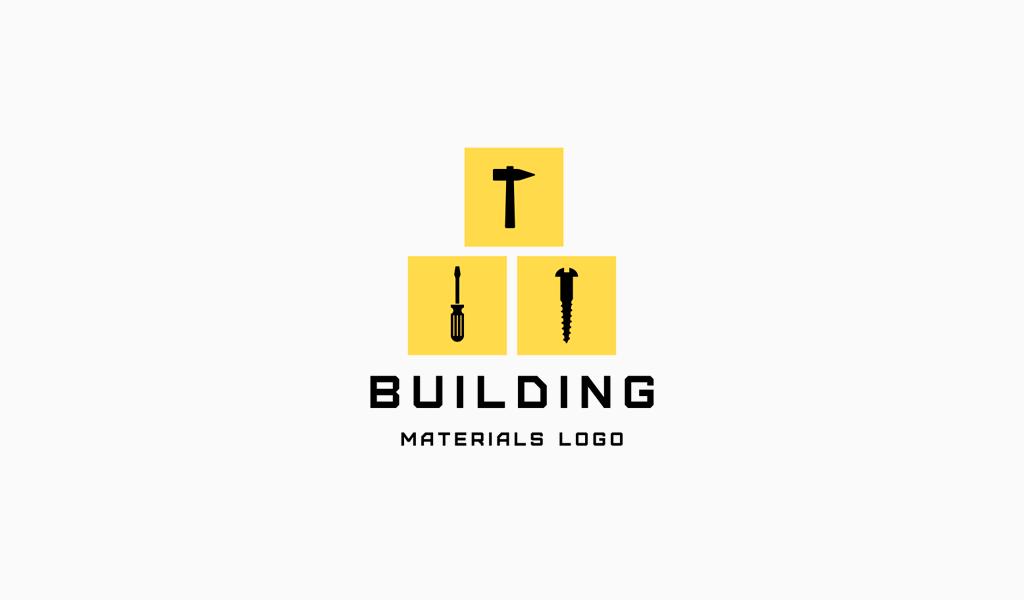 Logotipo de ferramentas de construção