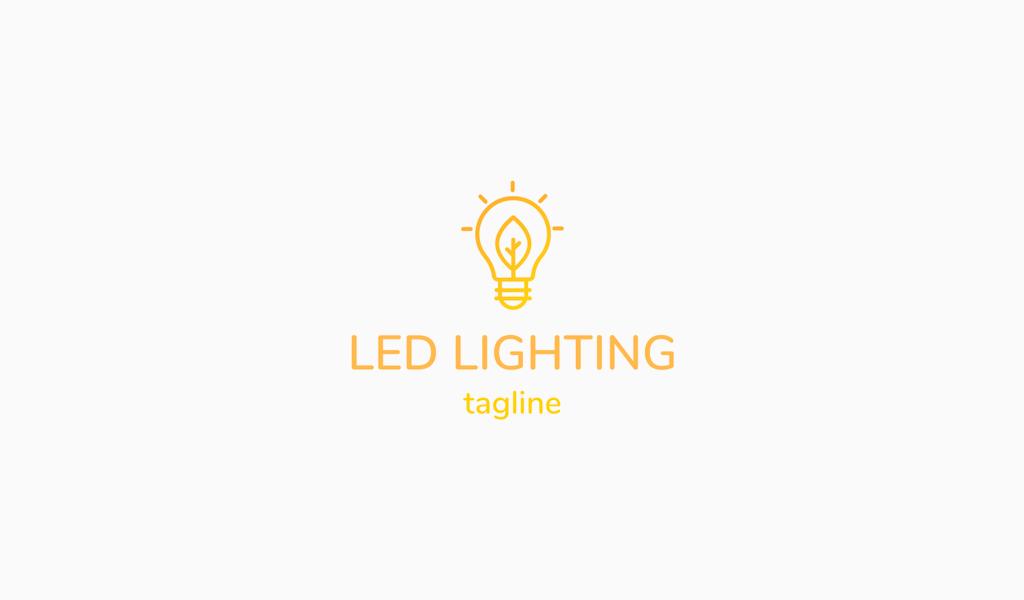 Logótipo de lâmpada led