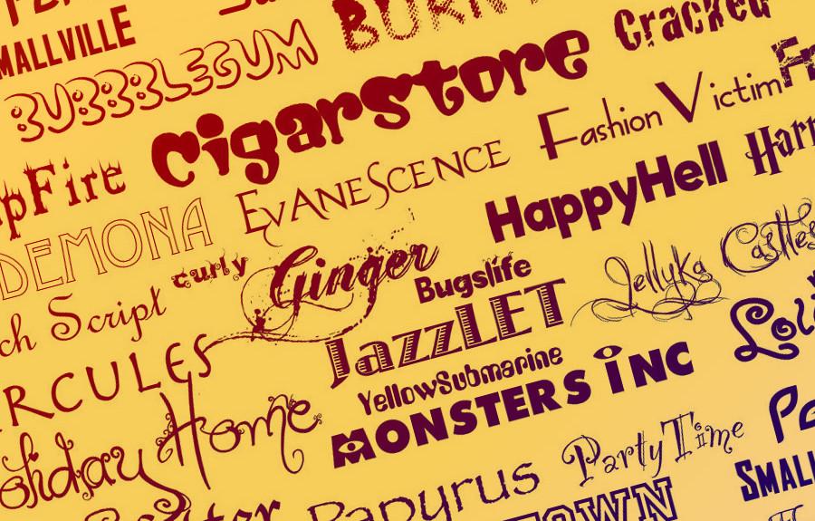 Logo için ücretsiz yazı tipleri