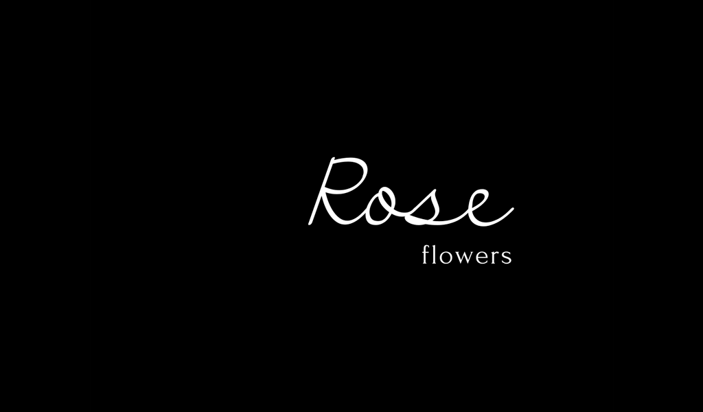 Çiçek Dükkanı Yazı Logosu