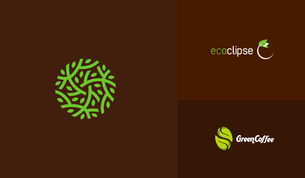 kahverengi organik logolar