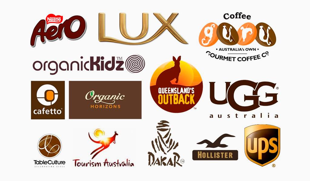 kahverengi ünlü logolar